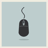 Computer mouse vintage icon vector Royalty Free Stock Photo