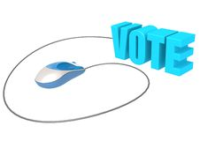 Computer mouse and vote Royalty Free Stock Image