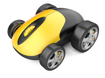 Computer mouse with wheels Stock Photography