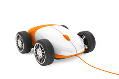 Computer Mouse on a wheels Royalty Free Stock Image