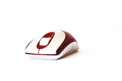 Computer mouse on the white background Stock Image