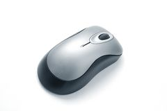 Computer mouse. Wireless computer mouse  on white background Stock Image