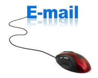Computer mouse and word E-mail Stock Photos
