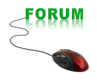 Computer mouse and word Forum Stock Image