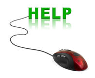 Computer mouse and word Help Stock Photos