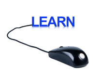 Computer mouse and word Learn. Stock Photography