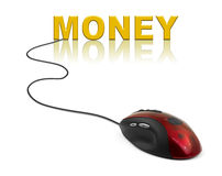 Computer mouse and word Money Royalty Free Stock Image