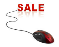 Computer mouse and word Sale Stock Image
