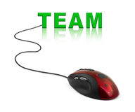 Computer mouse and word Team Royalty Free Stock Photo