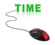 Computer mouse and word Time Stock Photography