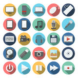 Computer & multimedia icons set Stock Images