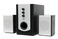 Computer multimedia speaker set Stock Image