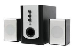 Computer multimedia speaker set stock image