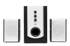 Computer multimedia speaker set stock photos