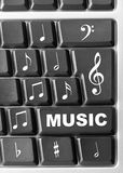 Computer music keyboard. Close-up of Computer music keyboard royalty free stock images