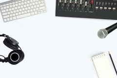 Computer music recording studio. Stock Images