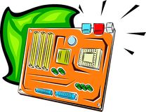 Computer-Muttervorstand Stockfoto