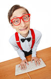 Computer nerd Royalty Free Stock Images