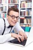 Computer nerd. Royalty Free Stock Photos