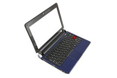 Computer netbook with red enter keypad Royalty Free Stock Image