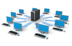 Computer Network. Image of computer network. White background Stock Image
