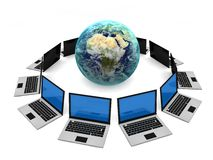Computer Network. Concept  in 3D Stock Image