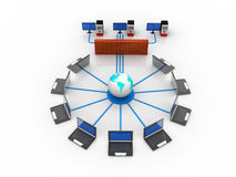 Computer Network. On white background Royalty Free Stock Image