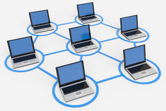 Computer network. Royalty Free Stock Images