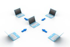Computer network Royalty Free Stock Image