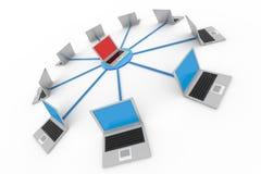 Computer network. Stock Photo