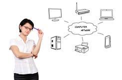 Computer network Stock Photo