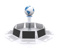 Computer Network. Royalty Free Stock Photography