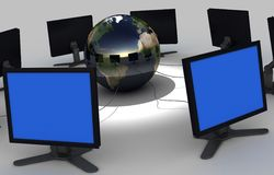 COMPUTER NETWORK. Image of 3d rendered computer network Stock Images