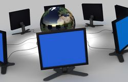 COMPUTER NETWORK. Image of 3d rendered computer network Royalty Free Stock Images