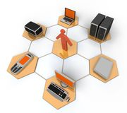Computer Network. Image of computer network. White background Stock Images