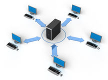 Computer Network. Image of computer network. White background Stock Photo