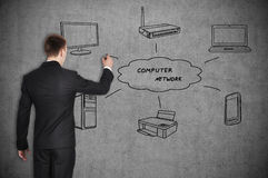 Computer network Royalty Free Stock Photos