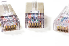 Computer network cables isolated Stock Image