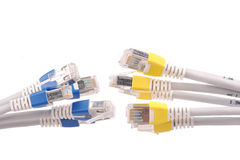 Computer network cables Royalty Free Stock Images