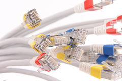 Computer network cables Royalty Free Stock Photography