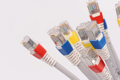 Computer network cables Stock Photos