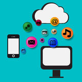 Computer network cloud Royalty Free Stock Image