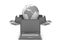 Computer network - concept illustration Royalty Free Stock Photo