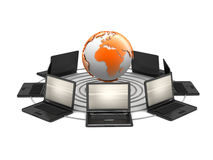 Computer network - concept illustration Stock Images