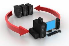 Computer Network concept Stock Photo