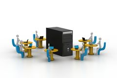 Computer network. Conceptual image Stock Photos