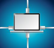 Computer network connection illustration design Royalty Free Stock Photography