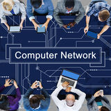 Computer Network Connection Server Ethernet Concept. Business People Computer Network Connection Server Royalty Free Stock Images