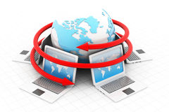Computer network. 3d render of Computer network Stock Photo