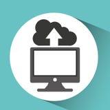 Computer network desktop cloud upward Stock Image